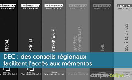 DEC : des conseils régionaux facilitent l'accès aux mémentos