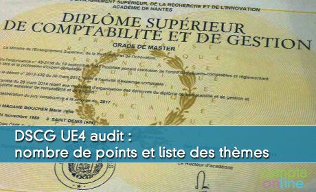 DSCG UE4 audit : nombre de points et liste des thèmes