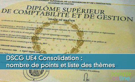 DSCG UE4 Consolidation : nombre de points et liste des thèmes