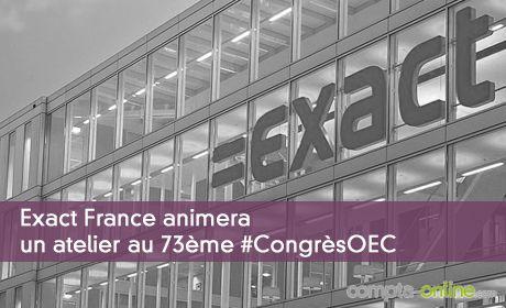 Exact France animera un atelier au 73ème #CongrèsOEC