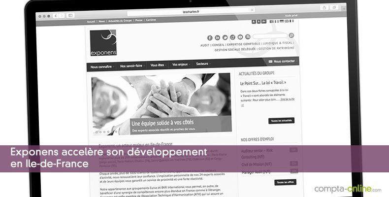 Exponens accelère son développement en Ile-de-France