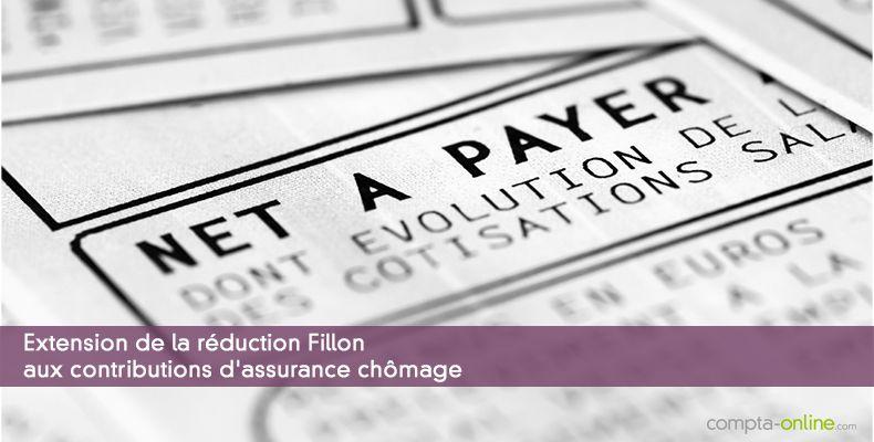 Extension de la réduction Fillon aux contributions d'assurance chômage