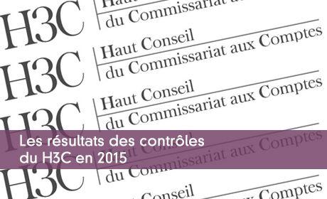 Les résultats des contrôles du H3C en 2015