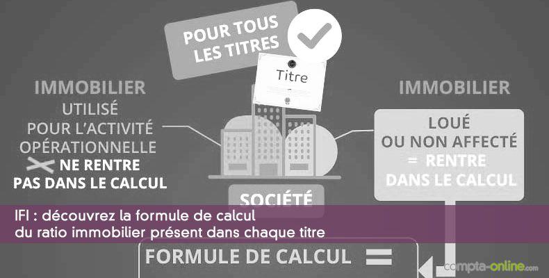 IFI : Découvrez la formule de calcul du ratio immobilier présent dans chaque titre