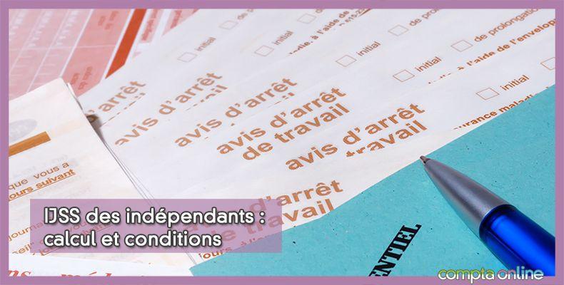 Indemnités journalières des indépendants