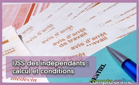 IJSS des indépendants : calcul et conditions