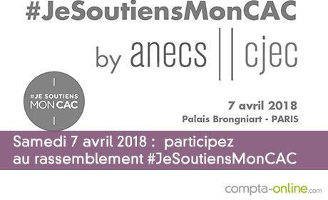 Samedi 7 avril 2018  Participez au rassemblement #JeSoutiensMonCAC
