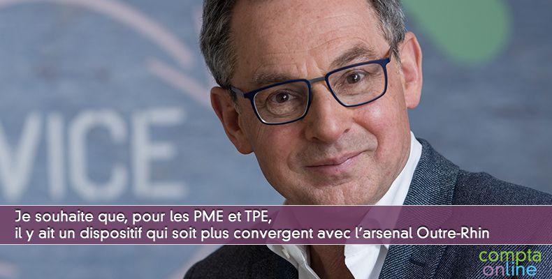 Je souhaite que, pour les PME et TPE, il y ait un dispositif qui soit plus convergent avec l'arsenal Outre-Rhin