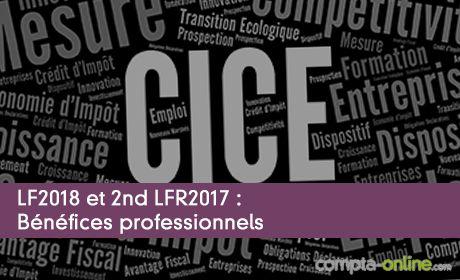 LF2018 et 2nd LFR2017 : Bénéfices professionnels
