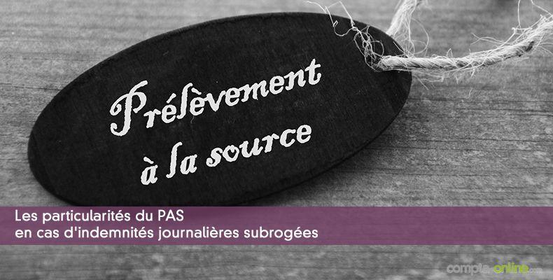 Prelevement A La Source Et Indemnites Journalieres Ou Ijss