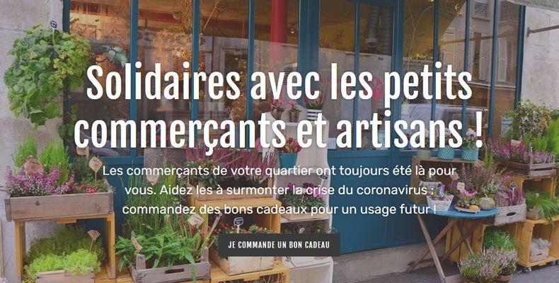 Solidaires avec les petits commerçants et artisans