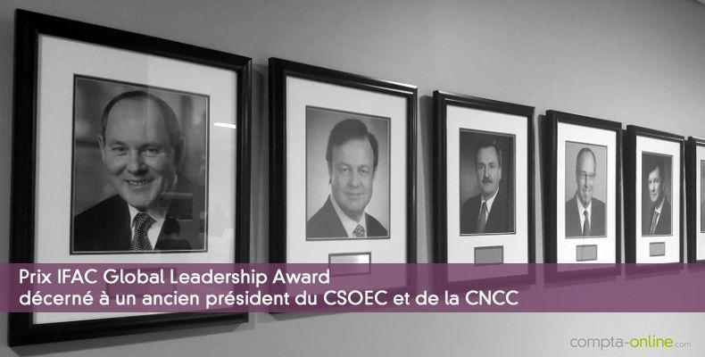 Prix IFAC Global Leadership Award décerné à un ancien président du CSOEC et de la CNCC