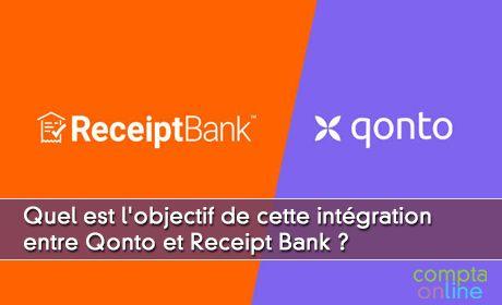 Quel est l'objectif de cette intégration entre Qonto et Receipt Bank ?