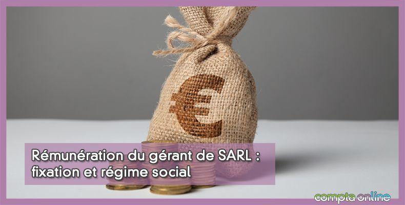 Rémunération du gérant de SARL