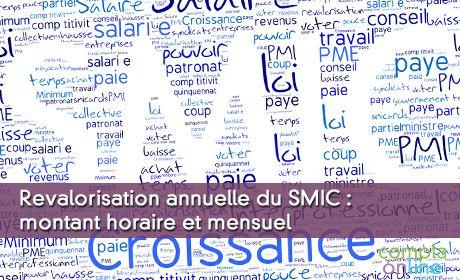 Revalorisation annuelle du SMIC