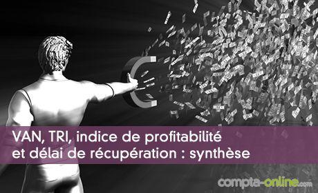 VAN, TRI, indice de profitabilité et délai de récupération : synthèse