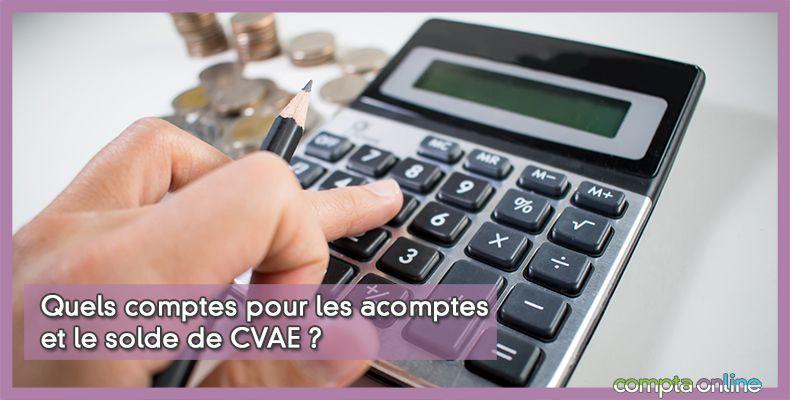 Comptabilisation de la CVAE