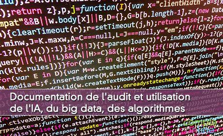 Documentation de l'audit et utilisation de l'IA, du big data, des algorithmes