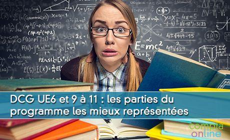 DCG UE6 et 9 à 11 : les parties du programme les mieux représentées à l'examen