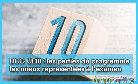 DCG UE10 : les parties du programme les mieux représentées à l'examen