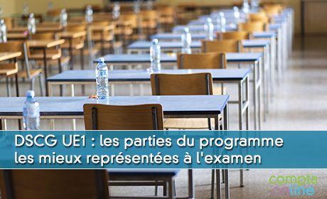 DSCG UE1 : les parties du programme les mieux représentées à l'examen