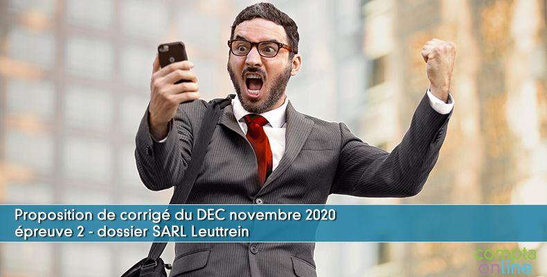 Corrigé du DEC novembre 2020