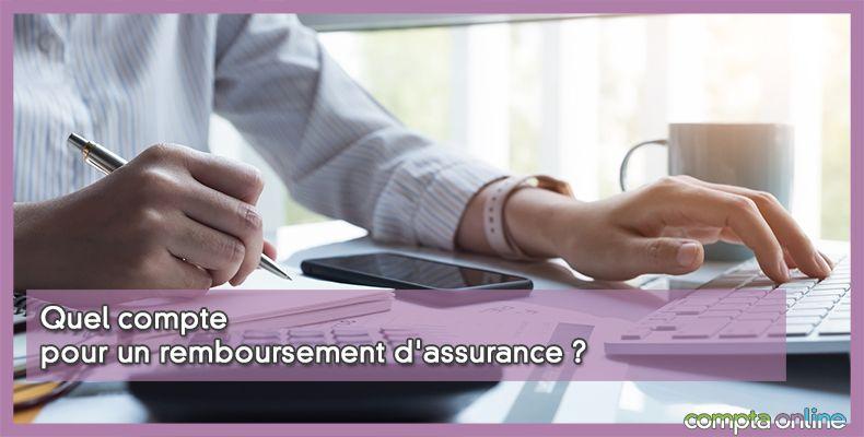 Comptabilisation remboursement d'assurance
