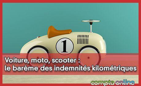 Voiture, moto, scooter : le barème des indemnités kilométriques