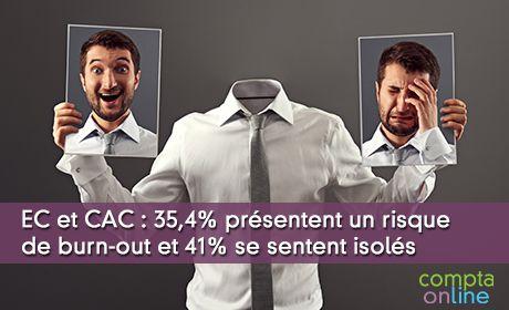 EC et CAC : 35,4% présentent un risque de burn-out et 41% se sentent isolés
