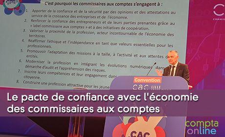 Le pacte de confiance avec l'économie des commissaires aux comptes
