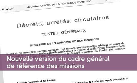 Nouvelle version du cadre général de référence des missions