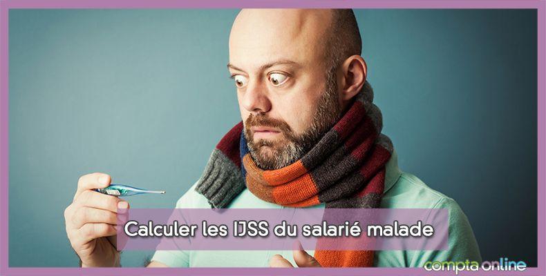 Calculer les IJSS du salarié malade