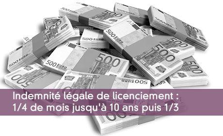 Calcul De L Indemnite Legale De Licenciement