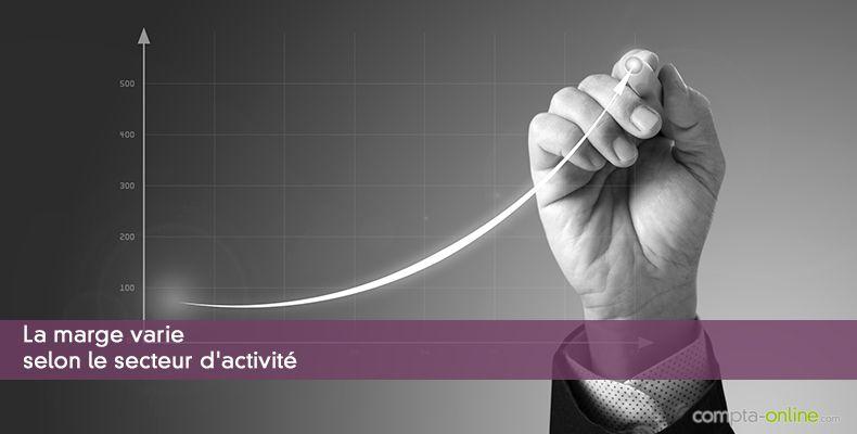 La marge varie selon le secteur d'activité