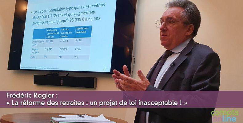 Frédéric Rogier : « La réforme des retraites : un projet de loi inacceptable ! »