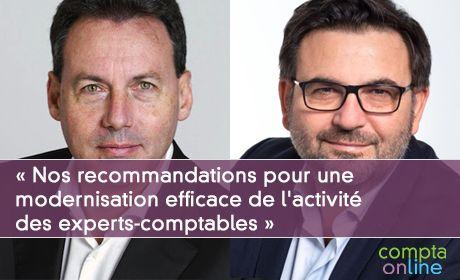 Pascal Houillon et François Méro « Nos recommandations pour une modernisation efficace de l'activité des experts-comptables »
