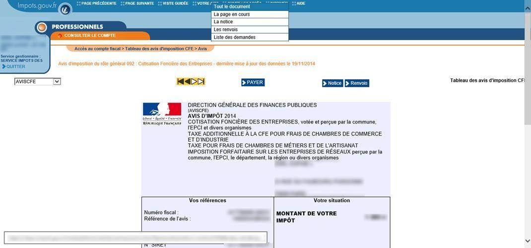 Comment Consulter L Avis D Imposition Et Payer La Cfe En 2018