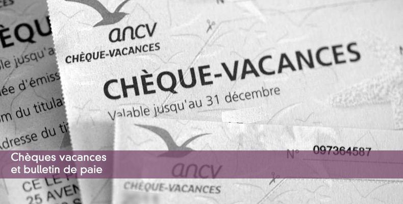 Les Cheques Vacances Exemple De Fiche De Paie