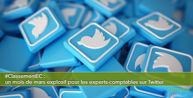 #ClassementEC : un mois de mars explosif pour les experts-comptables sur Twitter