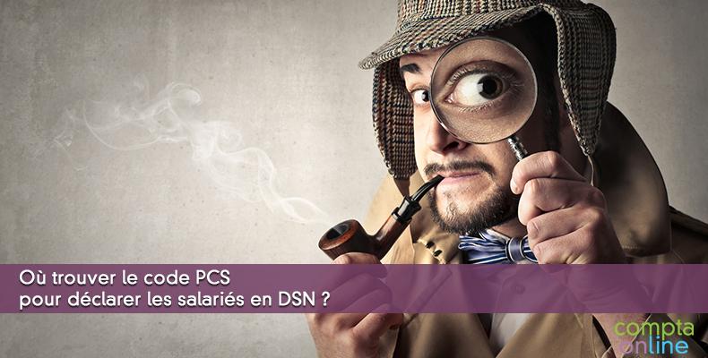 Où trouver le code PCS pour déclarer les salariés en DSN ?