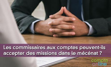 Intervention du commissaire aux comptes dans le cadre d'une convention de mécénat