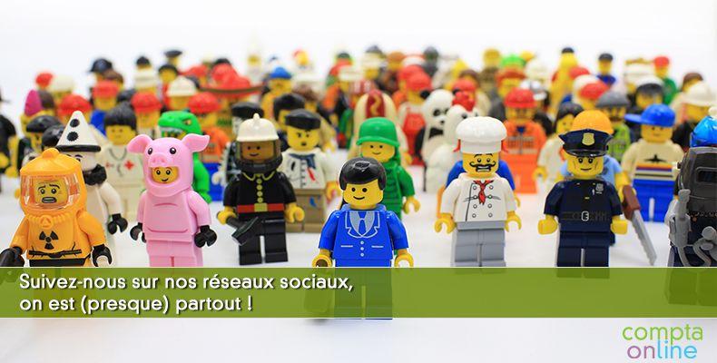 Suivez-nous sur nos réseaux sociaux, on est (presque) partout !