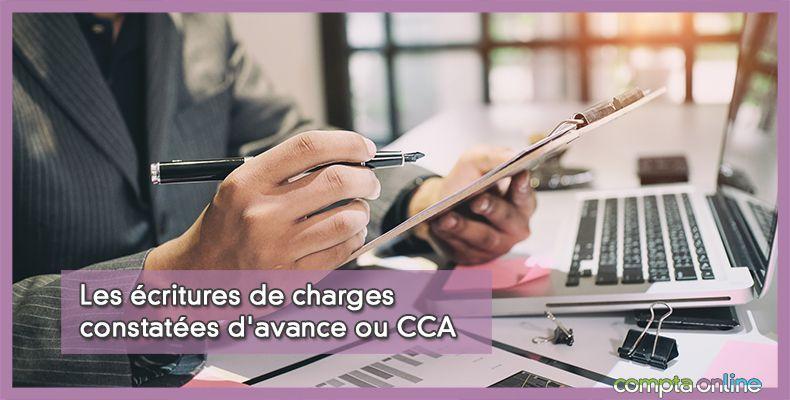 Les écritures de charges constatées d'avance ou CCA