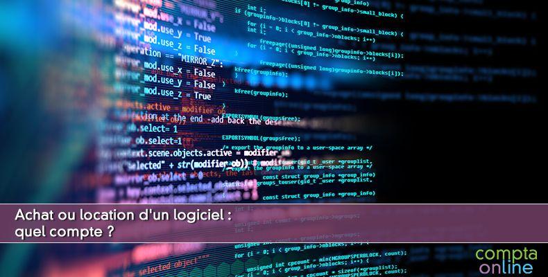 Comptabilisation logiciel