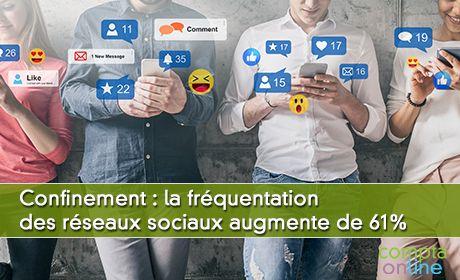 Confinement : la fréquentation des réseaux sociaux augmente de 61%