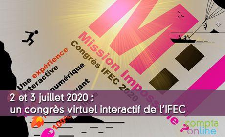 2 et 3 juillet 2020 : un congrès virtuel interactif avec ateliers et partenaires