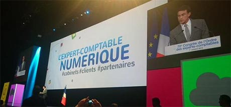 Manuel Valls au 70ème congrès de l'Ordre des experts-comptables