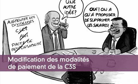 Modification des modalités de paiement de la C3S