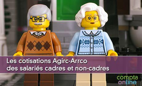 Les cotisations Agirc-Arrco des salariés cadres et non-cadres