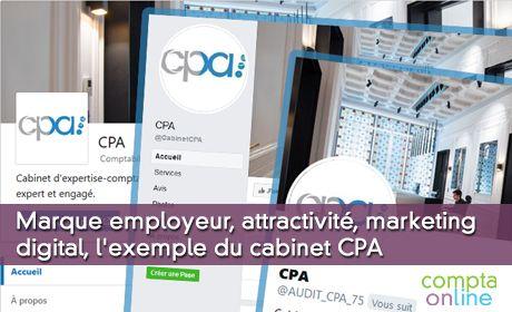 Marque employeur, attractivité, marketing digital, l'exemple du cabinet CPA